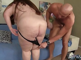 Hot and sexy BBW Julie Ann More gets her pussy reamed