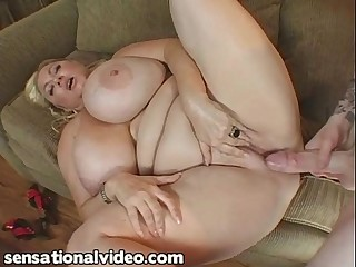 Busty BBW MILF Fucks Student from Next Door