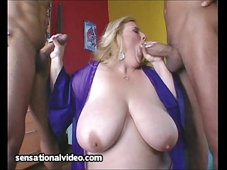 Fat Housewife Fucks 2 Big Latin Cocks