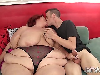 Redhead mature whore Sweet Cheaks gets fucked hard.