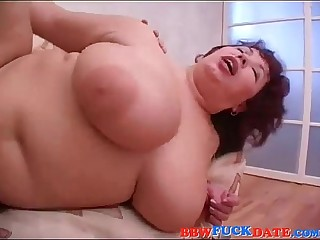 BBW Russian Mom and Young Guy