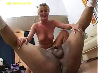Fat Guy's Load for Blonde