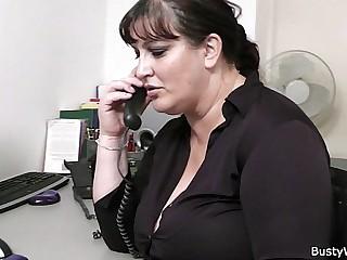 Fat secretary blowjob and office fuck