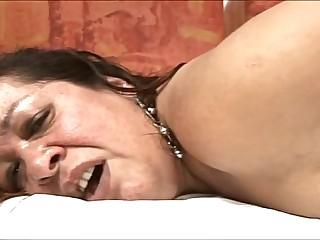 Brazilian fat mature in anal scene