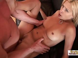 Hot MILF Patyon Leigh fucks a big, fat cock