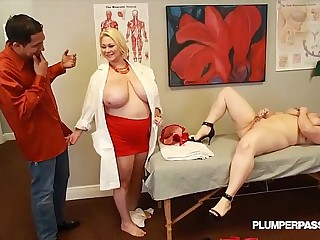Busty Doctor Samantha 38G Fucks Sexy NIkky Wilder and Stud