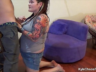 Mind Control Blowjob w/ BBW Pierced Tattooed Slut  - Behind the Scenes Camera