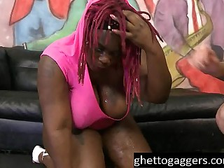 Ebony BBW Marley XXX Gets Her Throat Used