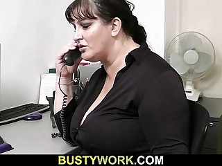 Horny co worker bangs BBW