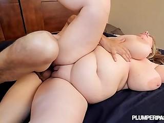 Busty BBW Milf Tiffany Blake Fucks Stud Out By the Pool