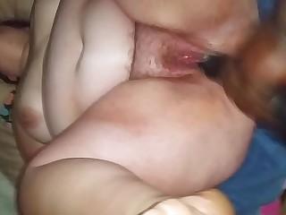mature bbw woman enjoying huge dildo