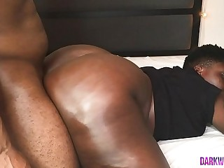 Ebony BBW Bounces Huge Cakes For A Creampie