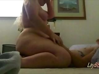 big ass blonde BBW love riding dick