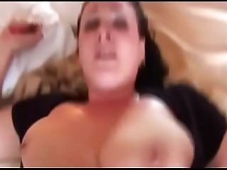 BBC make Huge Tits BBW orgasm