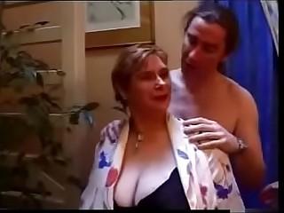 BBW granny anal 3some