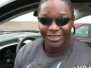Ebony fattie is banged