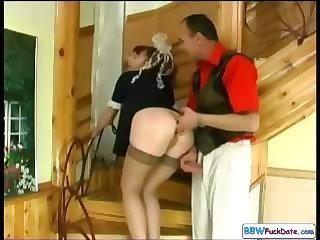Chubby Redhead Housekeeping Woman