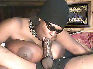 Voracious darksome big beautiful woman mamma is engulfing my jock deepthroat for cum