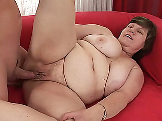 big beautiful woman granny with massive breasts acquires nailed unfathomable in her clam in sideways position
