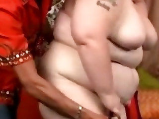 Three hundred pound chick sucks cock