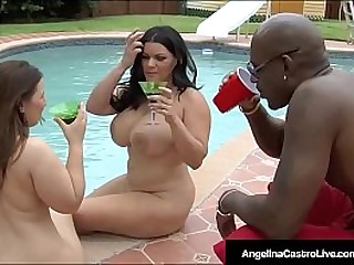 Check Out this Heated Outdoor Interracial Threesome With Cuban BBW Angelina Castro & Plump Cutie Lexxxi Lockhart! 2 Curvy Cuties take a big back cock!