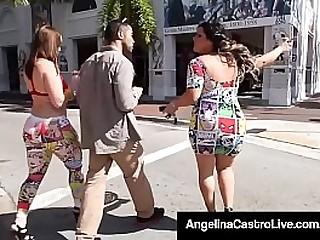 Big Booty BBWs  Angelina Castro & Virgo Peridot face fuck a big black cock in this hot interracial double blowjob! Full Video & Angelina Live @ AngelinaCastroLive.com!