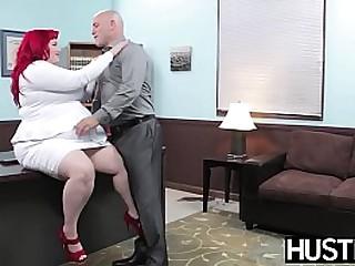 BBW redhead plowed hard by big cock