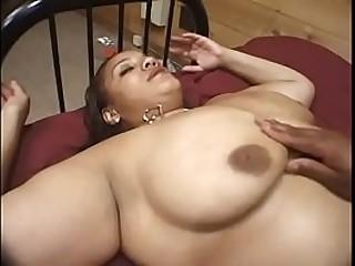 Latina and ebony BBW babes have pleasure with dildo
