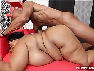 Busty Black BBW 46MM Cotton Candi Gets Worked Out by BBC