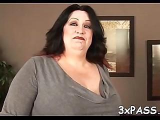 Ebony chap fucks fat girl